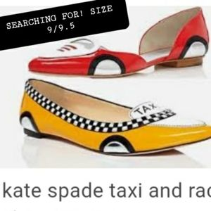 Kate Spade Taxi and Racecar Size 9/9.5